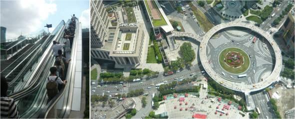 La incorporación de escaleras eléctricas en el espacio público, habla sobre la tendencia a universalizar el espacio. Shanghai, China. Fotografía Roy Jiménez.