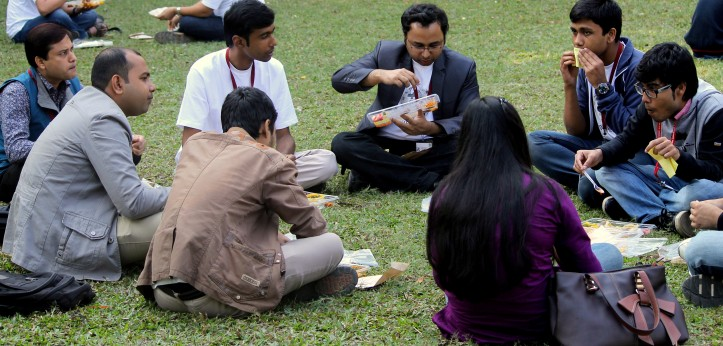 Bangladeshi_Wikipedians_taking_lunch_at_Bengali_Wikipedia_10th_Anniversary_Celebration_Jadavpur_University_Campus6140